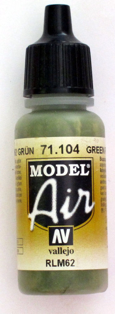 71104 Vallejo Model Airbrush Paint 17 ml Green RLM
