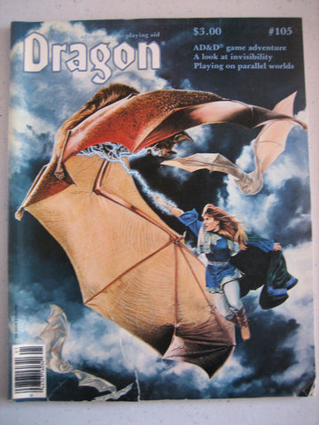 Dragon Magazine #105 Vintage VG+