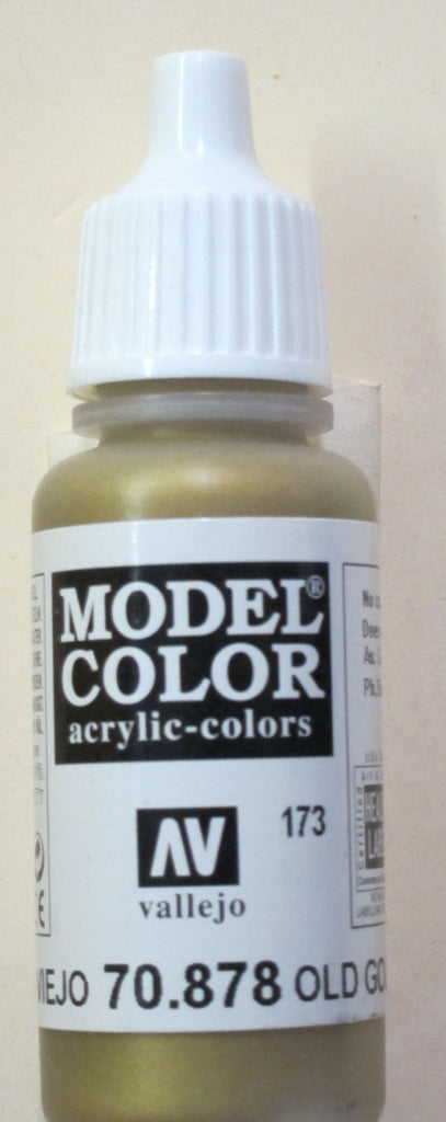 70878 Vallejo Model Color Paint: 17ml Old Gold  (M173)