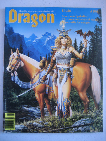 Dragon Magazine #106 Vintage VG+
