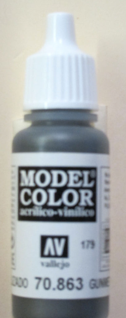 70863 Vallejo Model Color Paint: 17ml Gunmetal Grey  (M179)