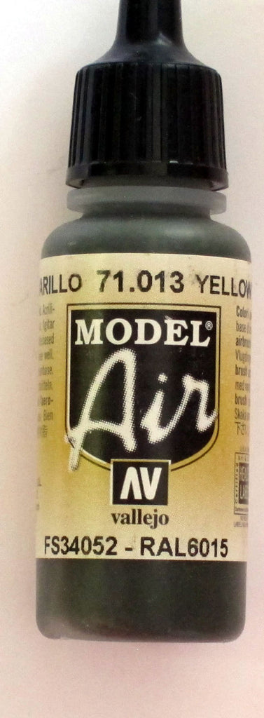 71013 Vallejo Model Airbrush Paint 17 ml Yellow Olive