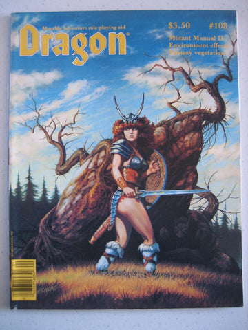 Dragon Magazine #108 Vintage VG+