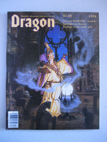 Dragon Magazine #104 Vintage VG+