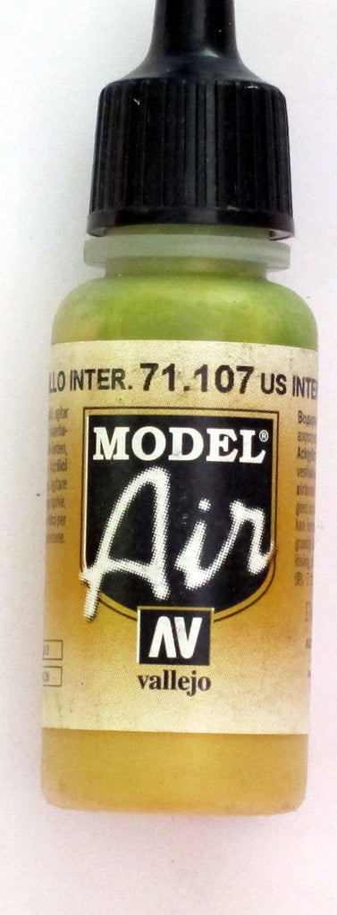 71107 Vallejo Model Airbrush Paint 17 ml US Interior Yellow