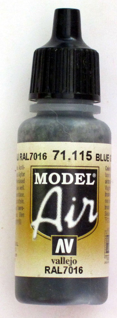 71115 Vallejo Model Airbrush Paint 17 ml Blue Grey