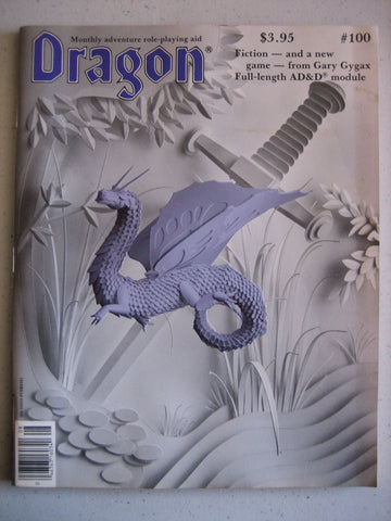 Dragon Magazine #100 Vintage VG+ SPECIAL 100th Edition - POSTER INCLUDED!