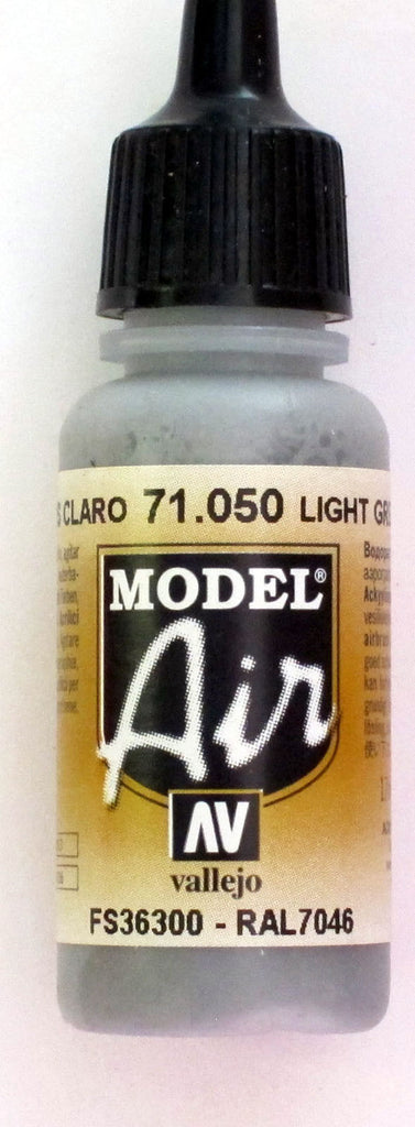 71050 Vallejo Model Airbrush Paint 17 ml Light Grey