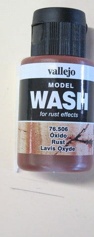 76506 Rust Vallejo Wash Paint: 35ml