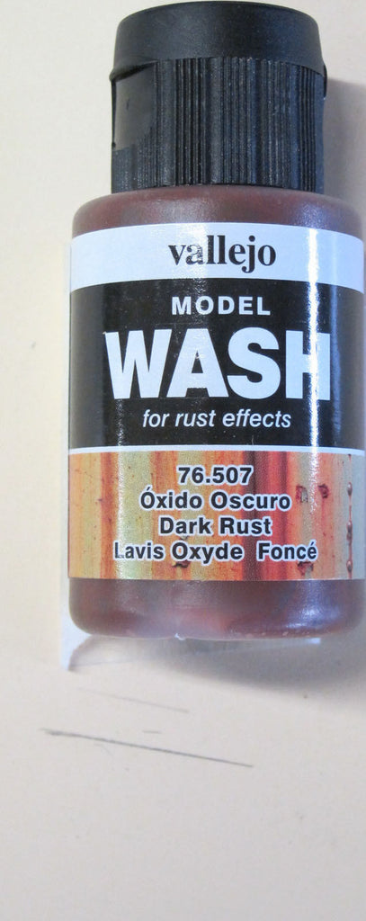 76507 Dark Rust Vallejo Wash Paint: 35ml