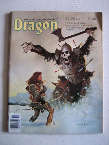 Dragon Magazine #126 Vintage VG+