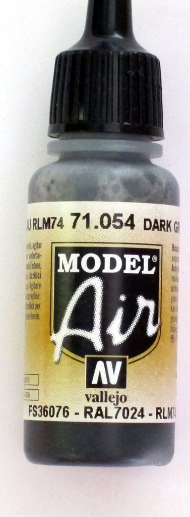 71054 Vallejo Model Airbrush Paint 17 ml Dark Grey Blue