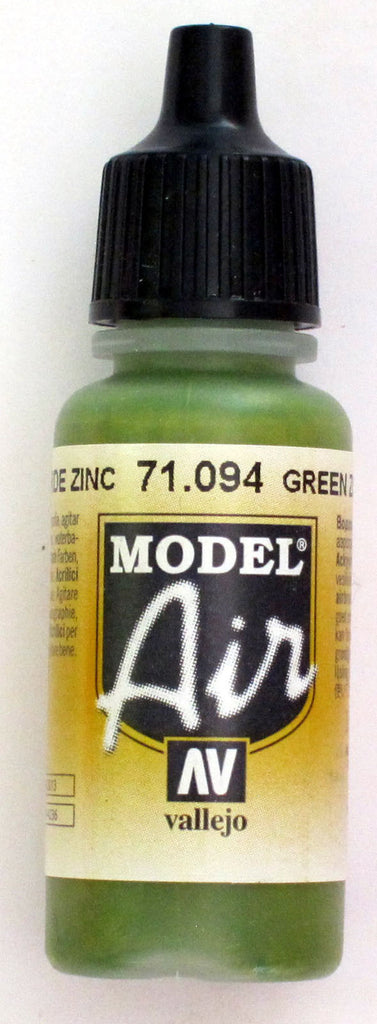 71094 Vallejo Model Airbrush Paint 17 ml Green Zinc Chromate