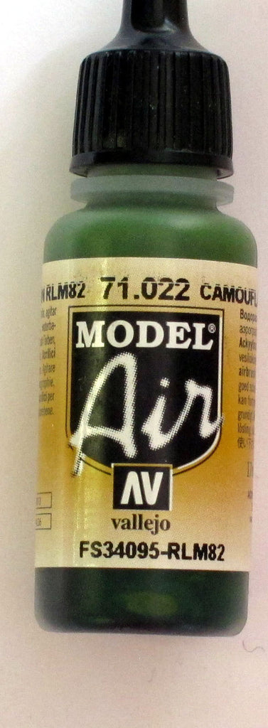 71022 Vallejo Model Airbrush Paint 17 ml Camouflage Green