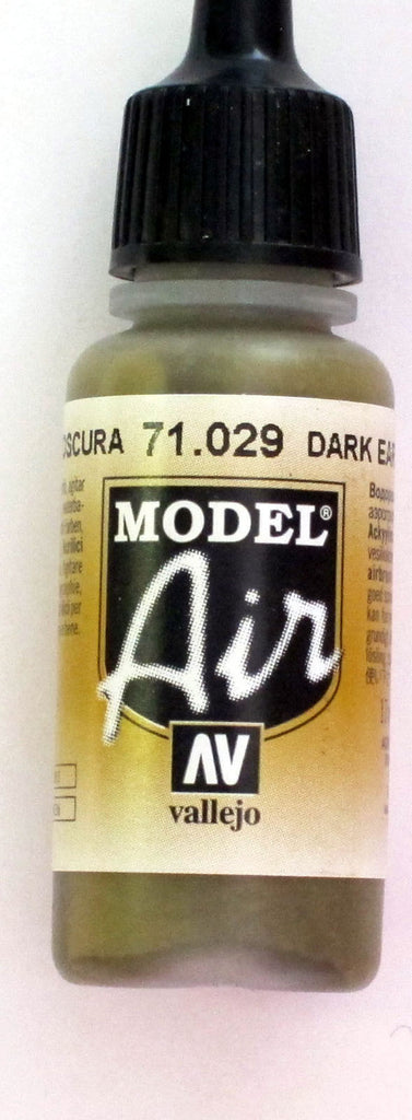 71029 Vallejo Model Airbrush Paint 17 ml Dark Earth