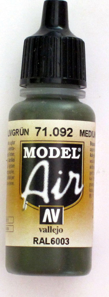 71092 Vallejo Model Airbrush Paint 17 ml Medium Green