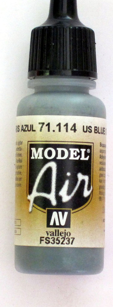 71114 Vallejo Model Airbrush Paint 17 ml US Blue Grey