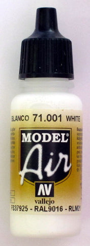 71001 Vallejo Model Airbrush Paint 17 ml White