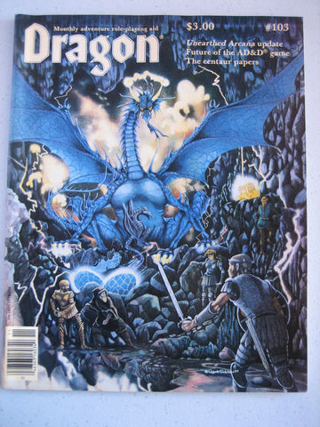 Dragon Magazine #103 Vintage VG+