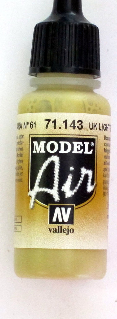 71143 Vallejo Model Airbrush Paint 17 ml UK Light Stone