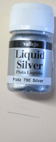 70790 Silver Vallejo Metallic Paint 35 ml