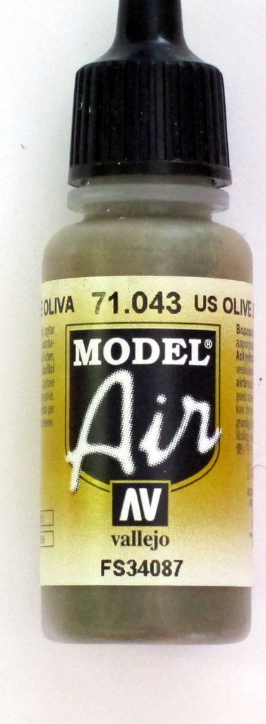 71043 Vallejo Model Airbrush Paint 17 ml Olive Drab