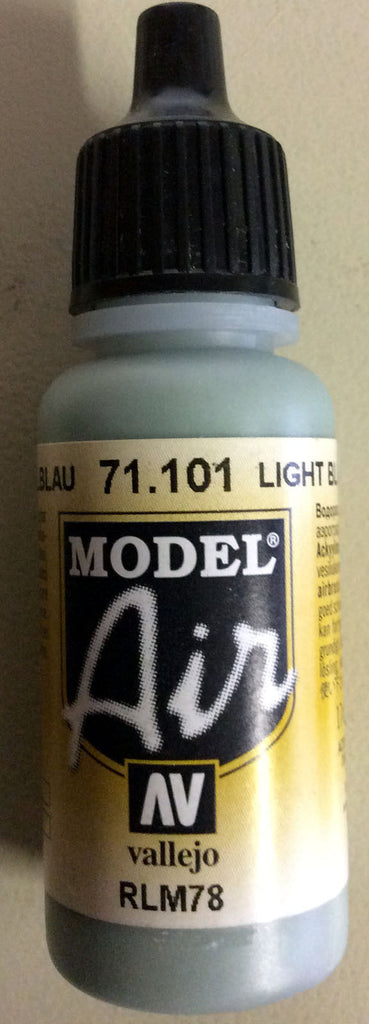 71101 Vallejo Model Airbrush Paint 17 ml Blue RLM