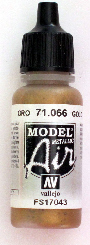 71066 Vallejo Model Airbrush Paint 17 ml Metallic Gold