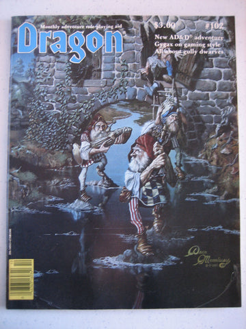 Dragon Magazine #102 Vintage VG+