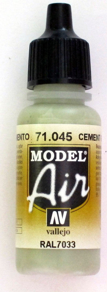 71045 Vallejo Model Airbrush Paint 17 ml US Grey Light