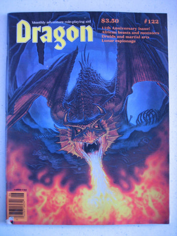 Dragon Magazine #122 Vintage VG+