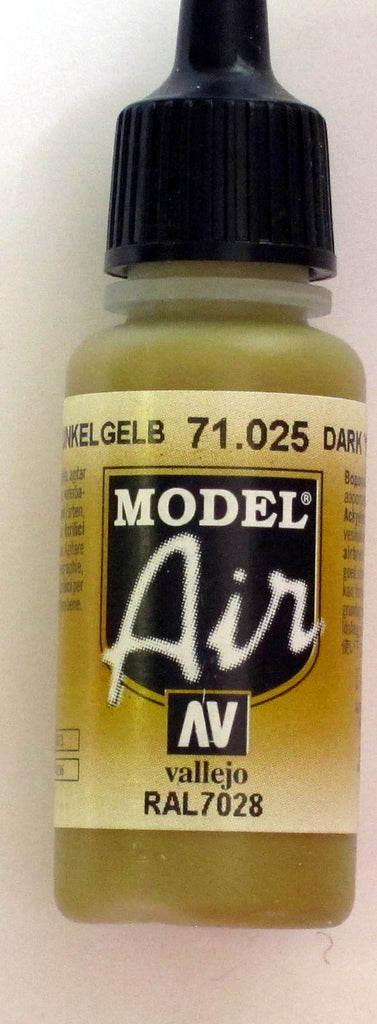 71025 Vallejo Model Airbrush Paint 17 ml Dark Yellow
