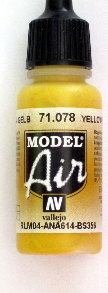 71078 Vallejo Model Airbrush Paint 17 ml Gold Yellow