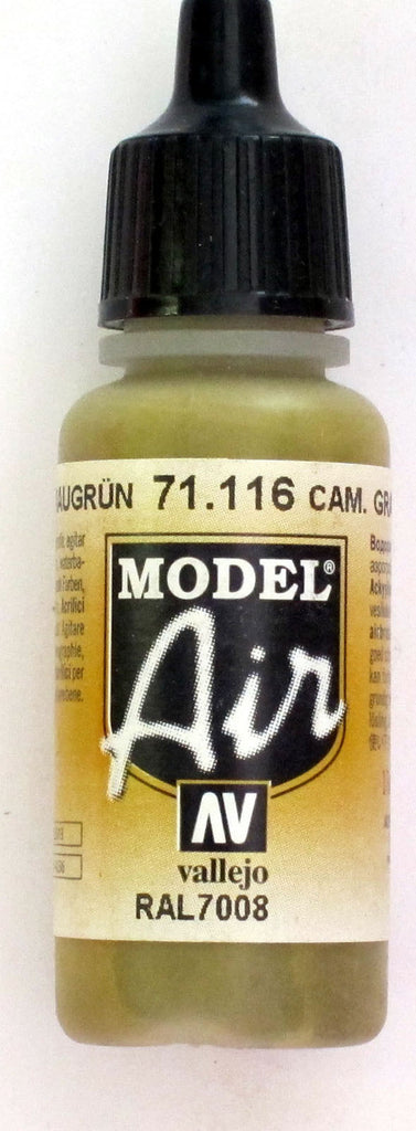 71116 Vallejo Model Airbrush Paint 17 ml Camouflage Grey Green