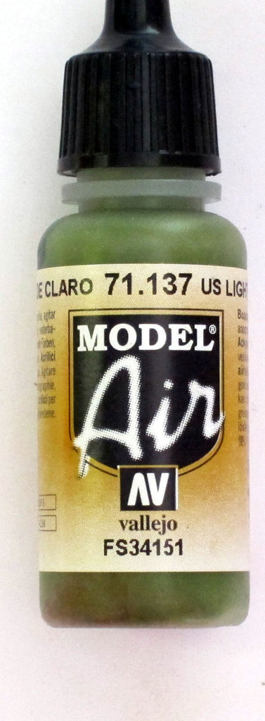 71137 Vallejo Model Airbrush Paint 17 ml US Light Green