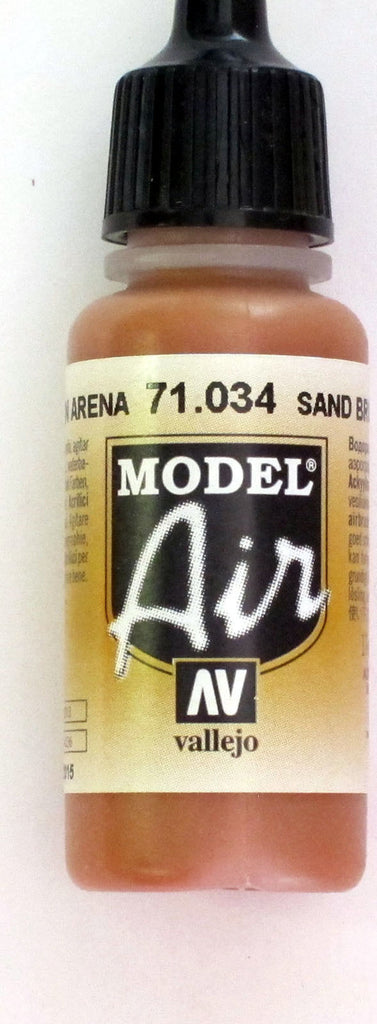 71034 Vallejo Model Airbrush Paint 17 ml Sandy Brown