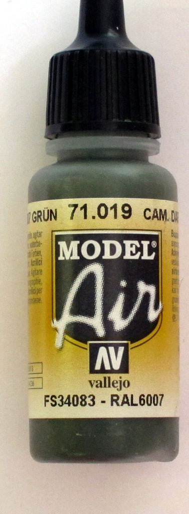 71019 Vallejo Model Airbrush Paint 17 ml Camouflage Dark green
