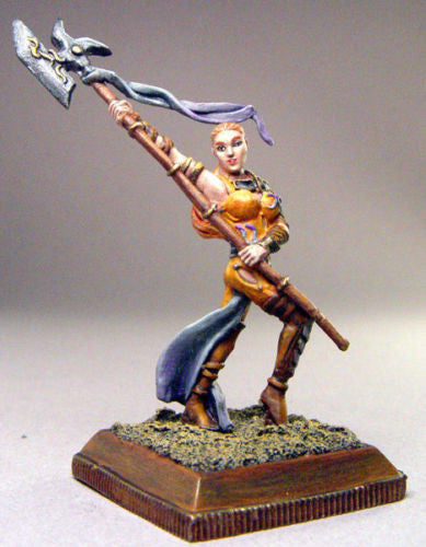 Kit# VEL1008 - Kalysa, weapons master with pole arm