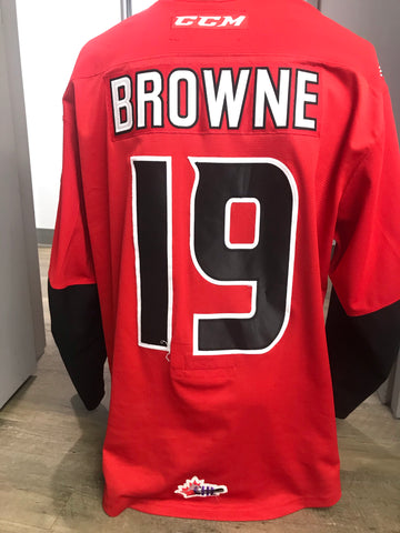 BROWNE RED THIRD JERSEY