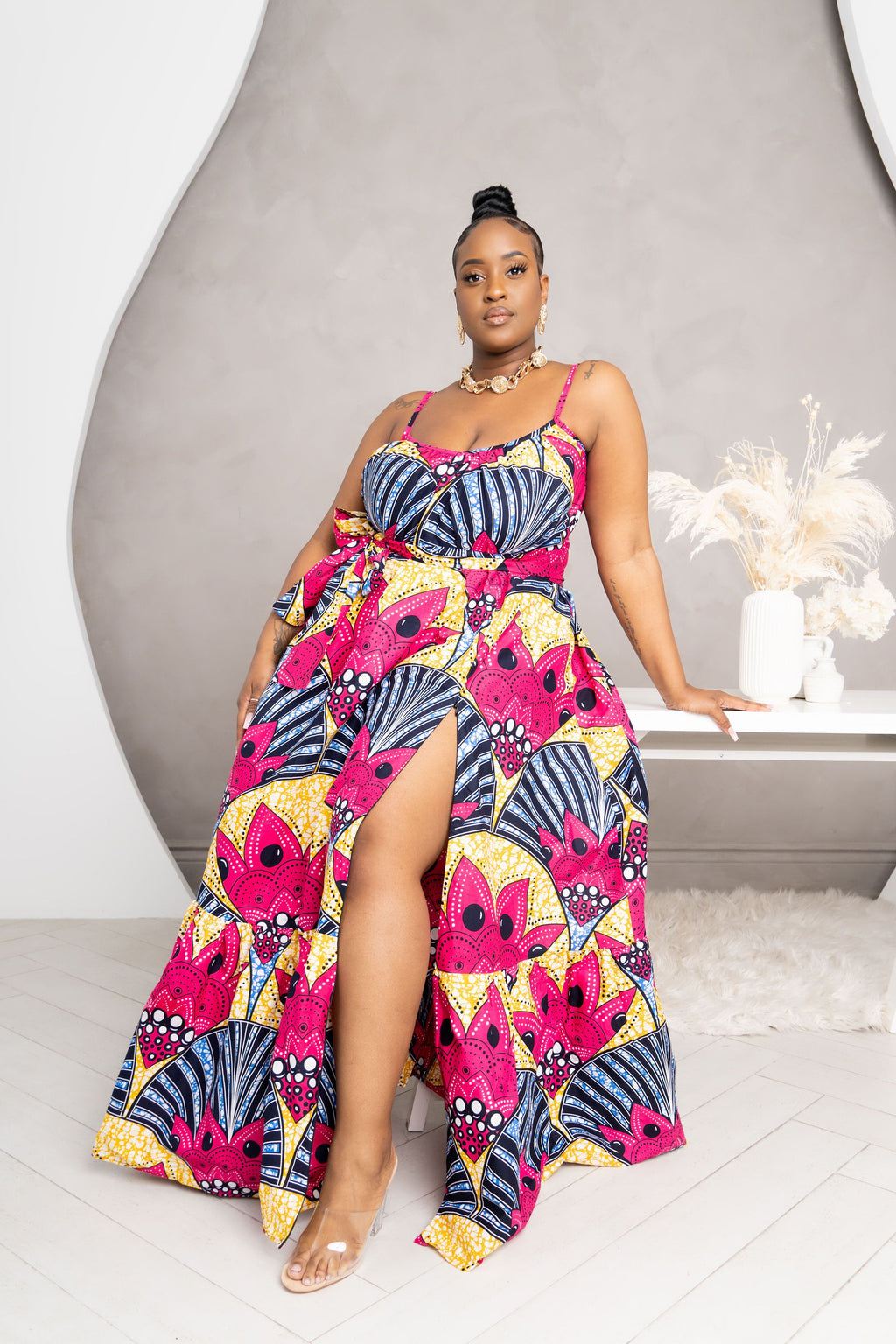 LAIDE African print Summer Maxi dress