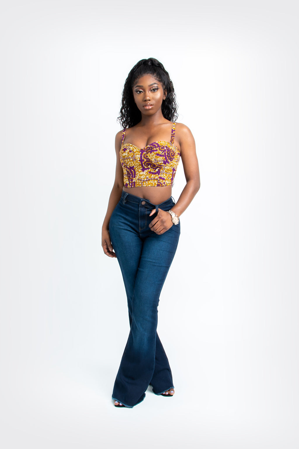 BAMIDELE African Print Trench Jacket