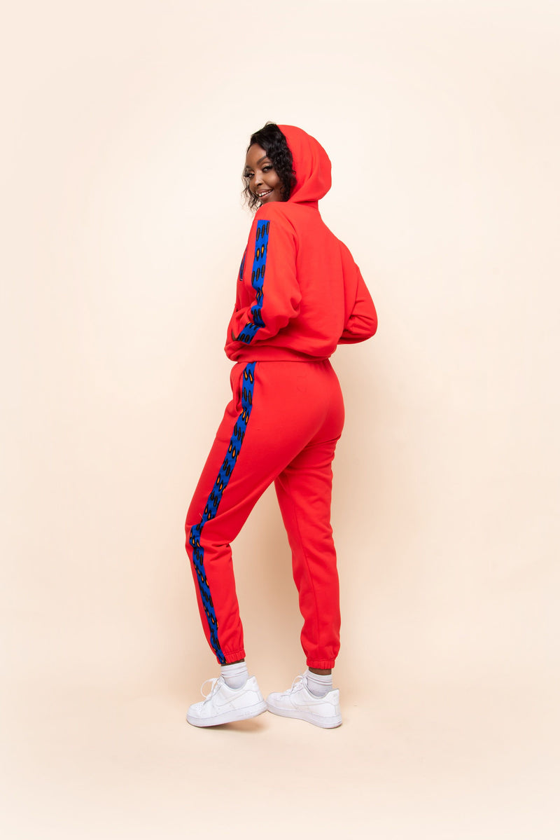 RED QUEEN  Hoodie Jogger Set