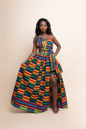 ADJUA African print Maxi Infinity dress