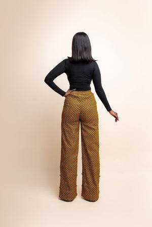 AGBANI African Print high waist trousers ( 3 LENGTH)