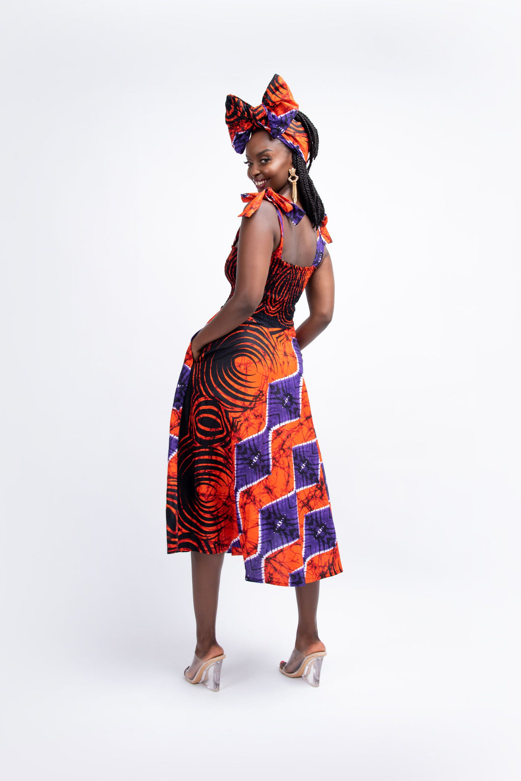 FISAYO African print midi dress