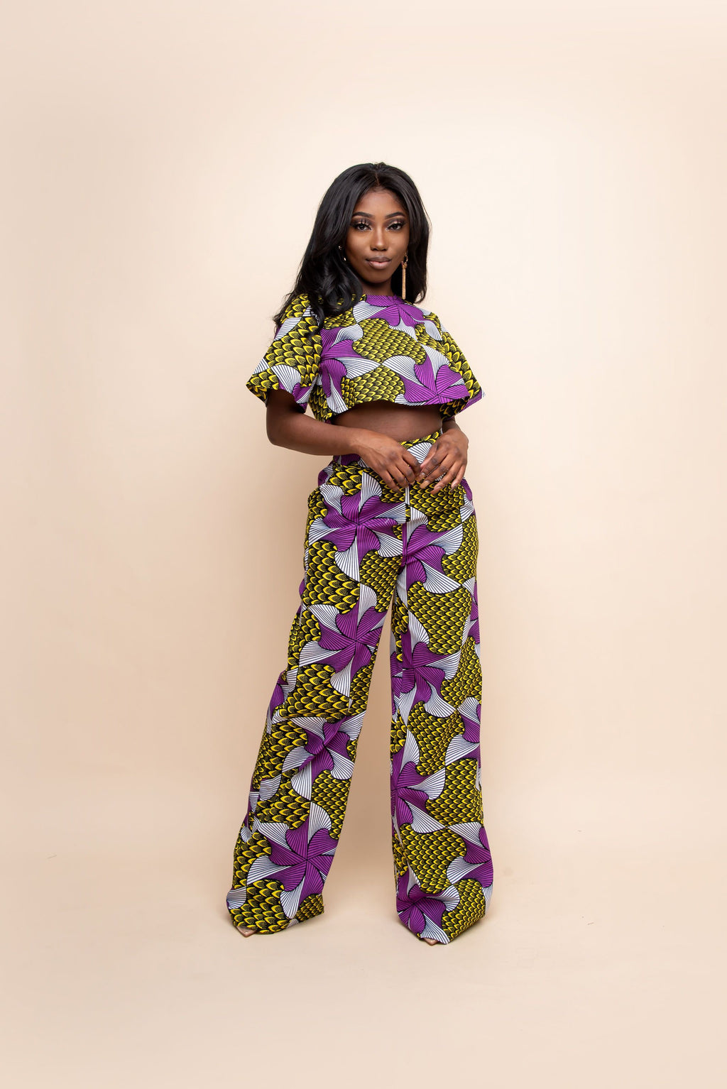 AMARA African Print Crop Top (short sleeve)