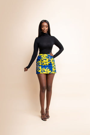 KIKA African Print Mini Skirt