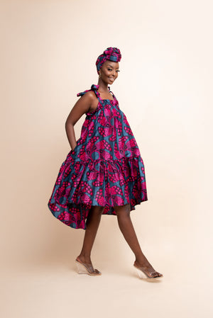 DOLAPO African Print Trench Jacket