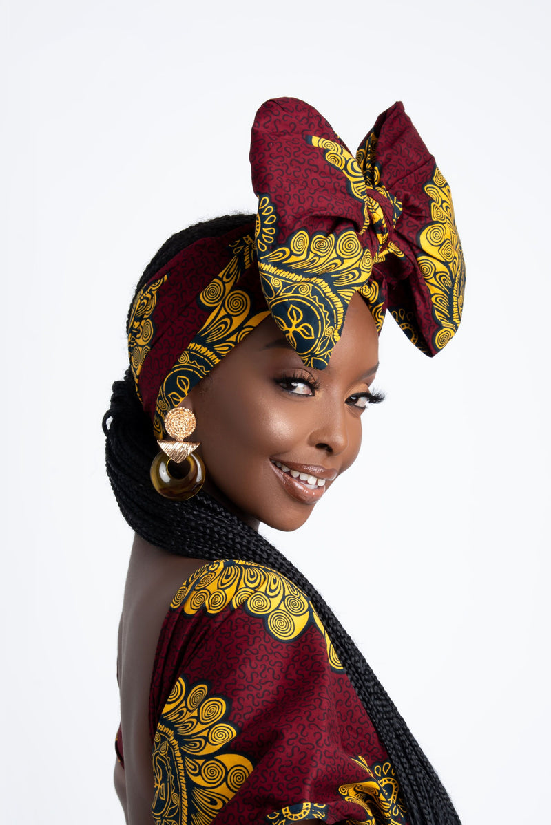 GINA African Print Headwrap headwrap ofuure