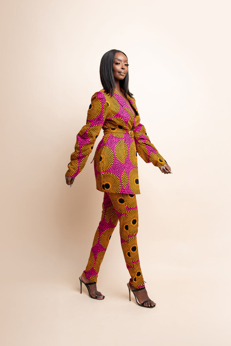 BOLANLE African print Maxi Infinity dress